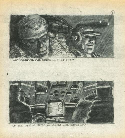 Storyboard From Blade Runner  Color Scripts  Storyboards