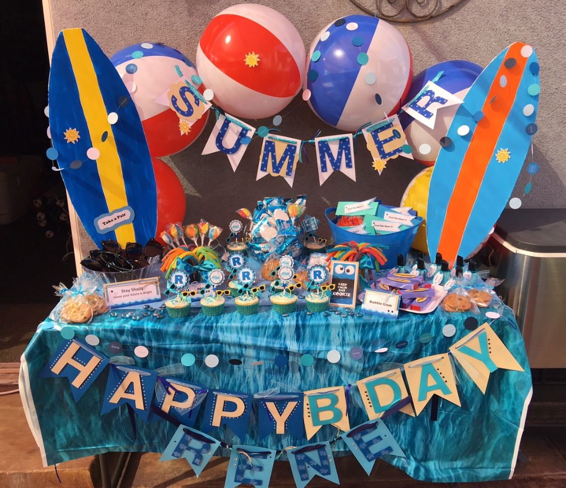 Summer Time Candy Table I created for my Nephews 13th