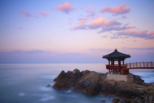 Korean Gazebo Sunset by Leigh MacArthur, via Flickr