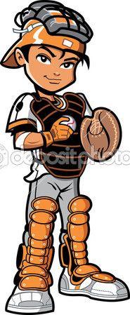 Vectores De Stock De Boy Playing Baseball Ilustraciones De Boy Playing Baseball Sin Royalties Jugadores De Beisbol Beisbol Futbol Americano