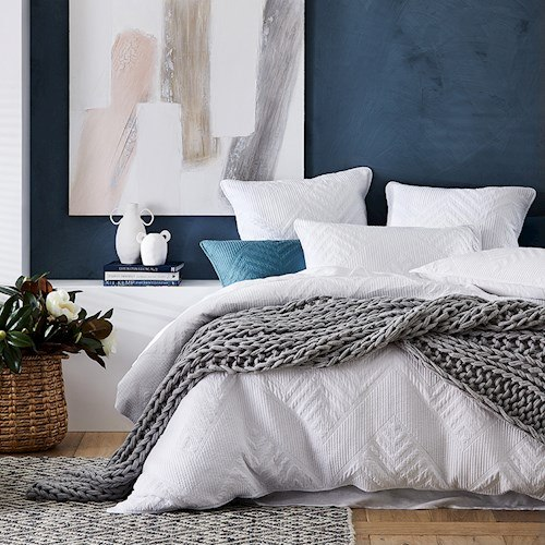 Home Republic Virgo Quilted Quilt Cover Bedroom Adairs In 2020 Quilt Cover White Quilt Cover White Quilt