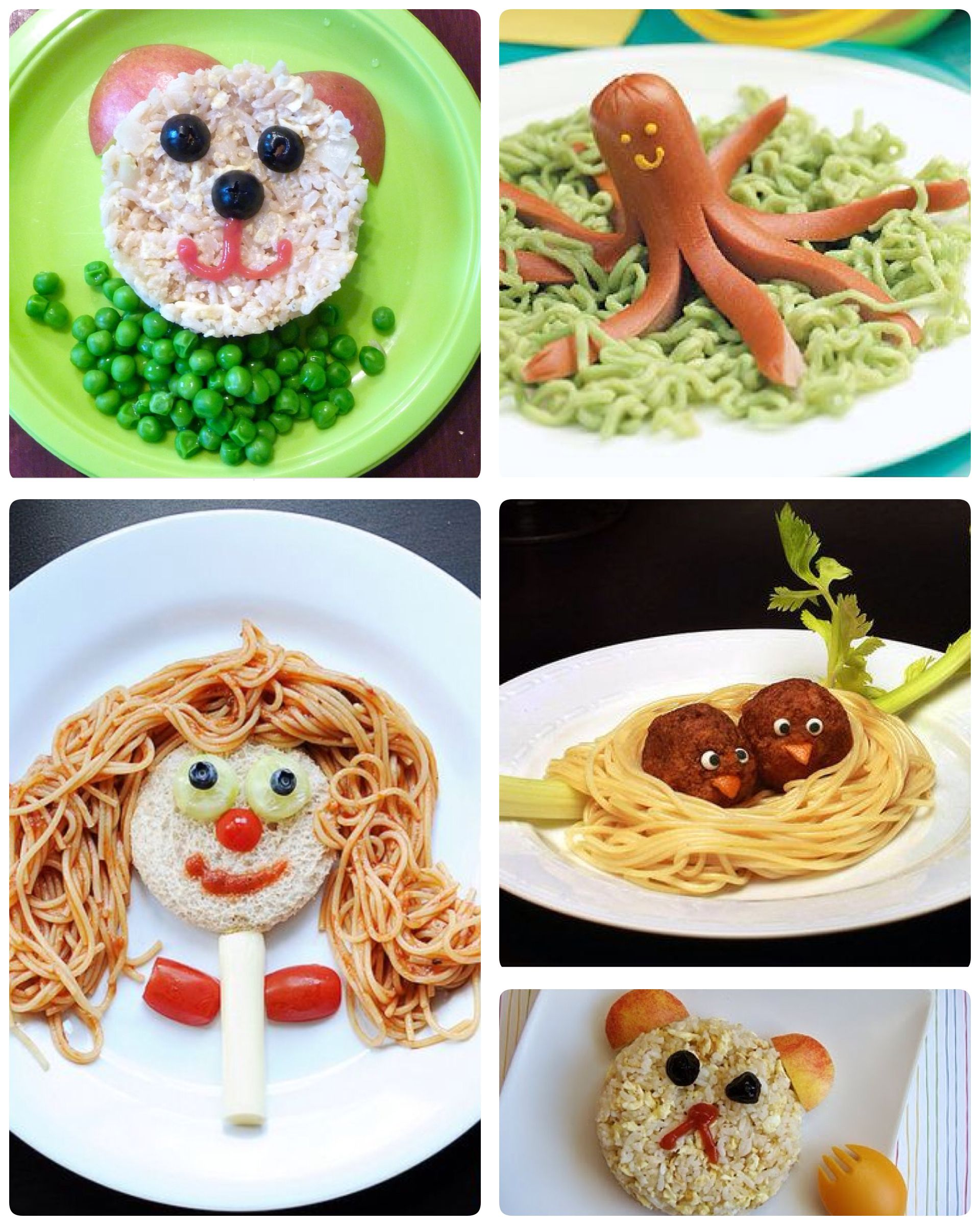 Decorar platos para ni os comida para ni os pinterest - Platos sencillos y sanos ...