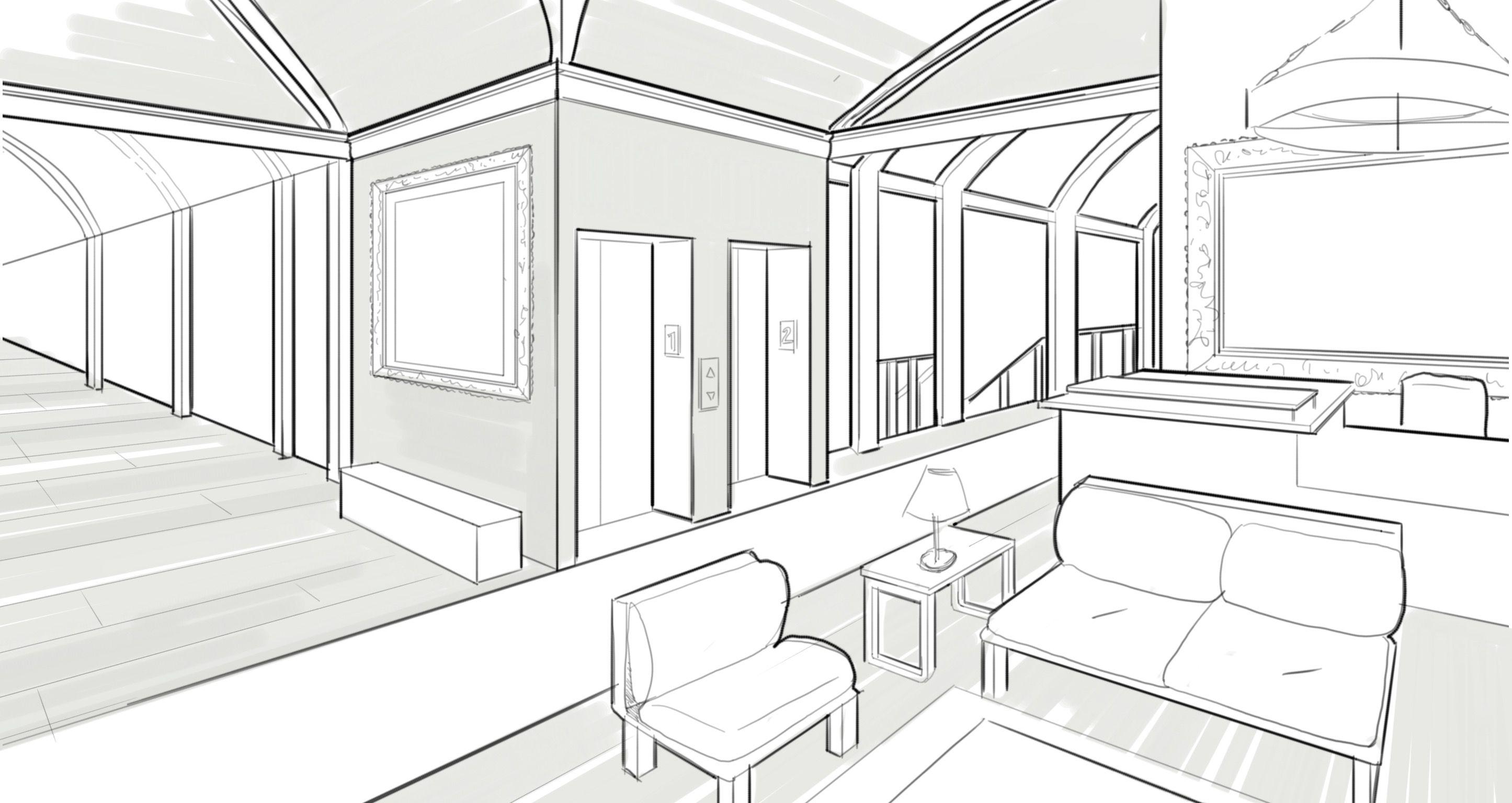 Interior Design Drawing Easy