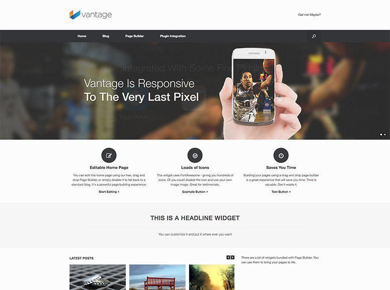 Tema WordPress gratis para empresas y blogs personales - Vantage ...