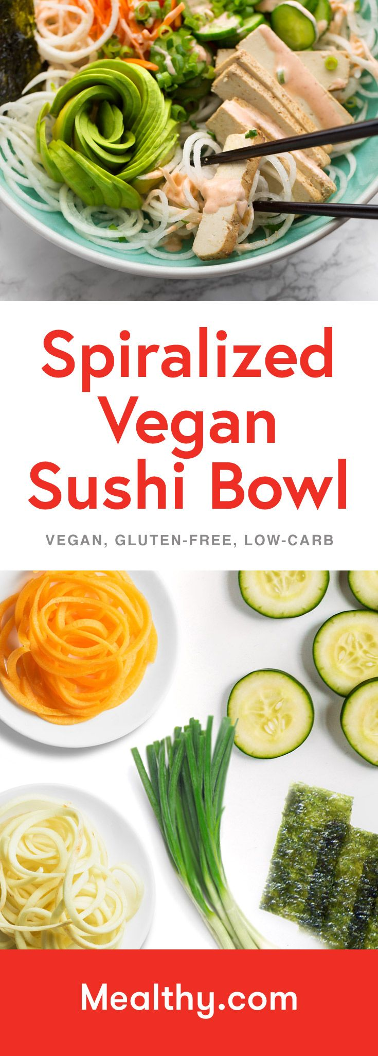 Spiralized Vegan Sushi Bowls