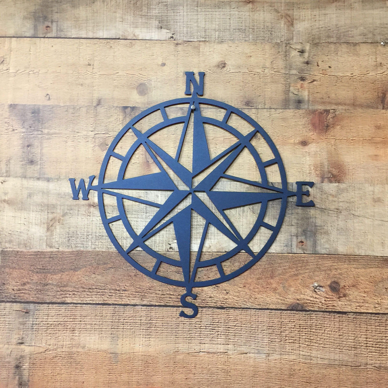 Compass Rose Metal Wall Art Nautical Compass Nautical Wall Etsy In 2021 Outdoor Metal Wall Art Nautical Wall Art Outdoor Metal Art
