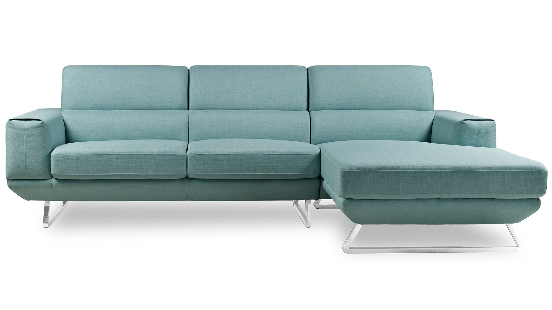 Zeitgen Ssische Sofas To Furnishings Modern Fabric Upholstered 3 Seater Kensington Sectional Sofa