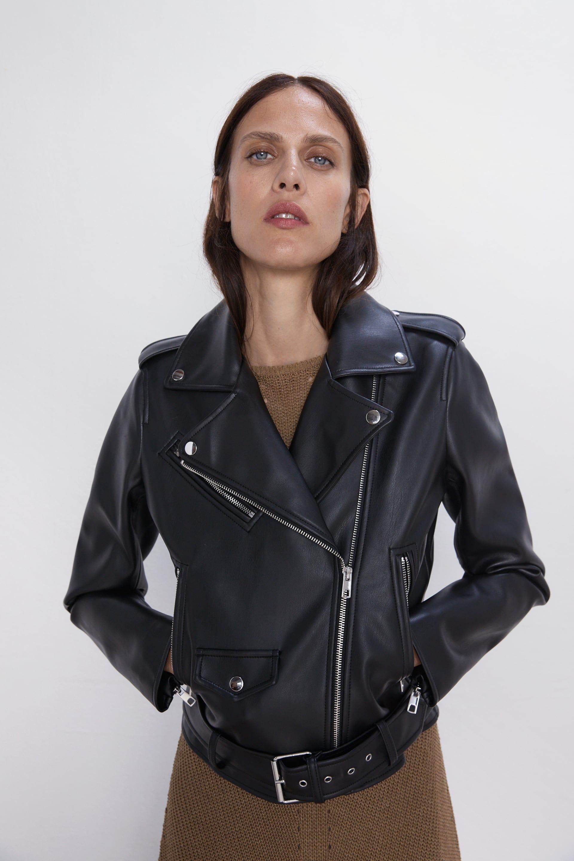 Faux leather biker jacket in 2020 Leather jacket, Best