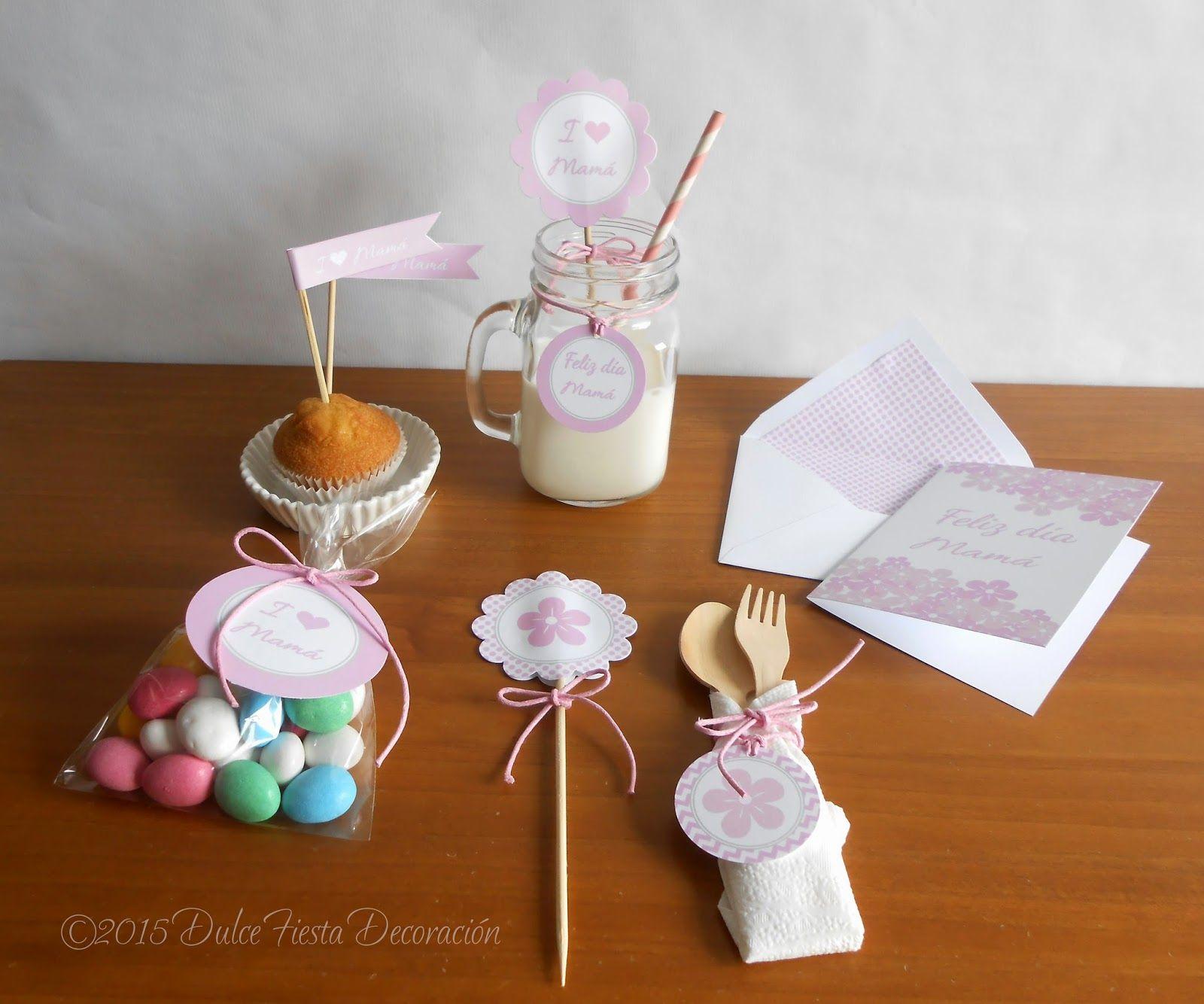 Dulce fiesta decoraci n kit imprimible y tarjeta para el for Decoracion para el dia de la madre