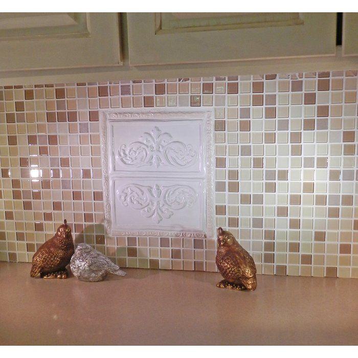 "Decorative Accent Tiles For Bathroom Prepossessing Folium 525"" X 95"" Ceramic Decorative Accent Tile In White Design Inspiration"