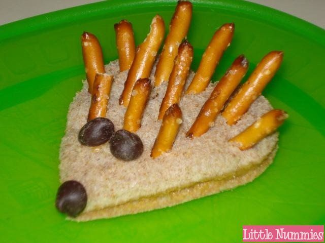 hedgehog treats for snack or lunch
