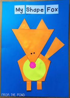 More 2D Shape Animal Crafts + A Fox Freebie ...