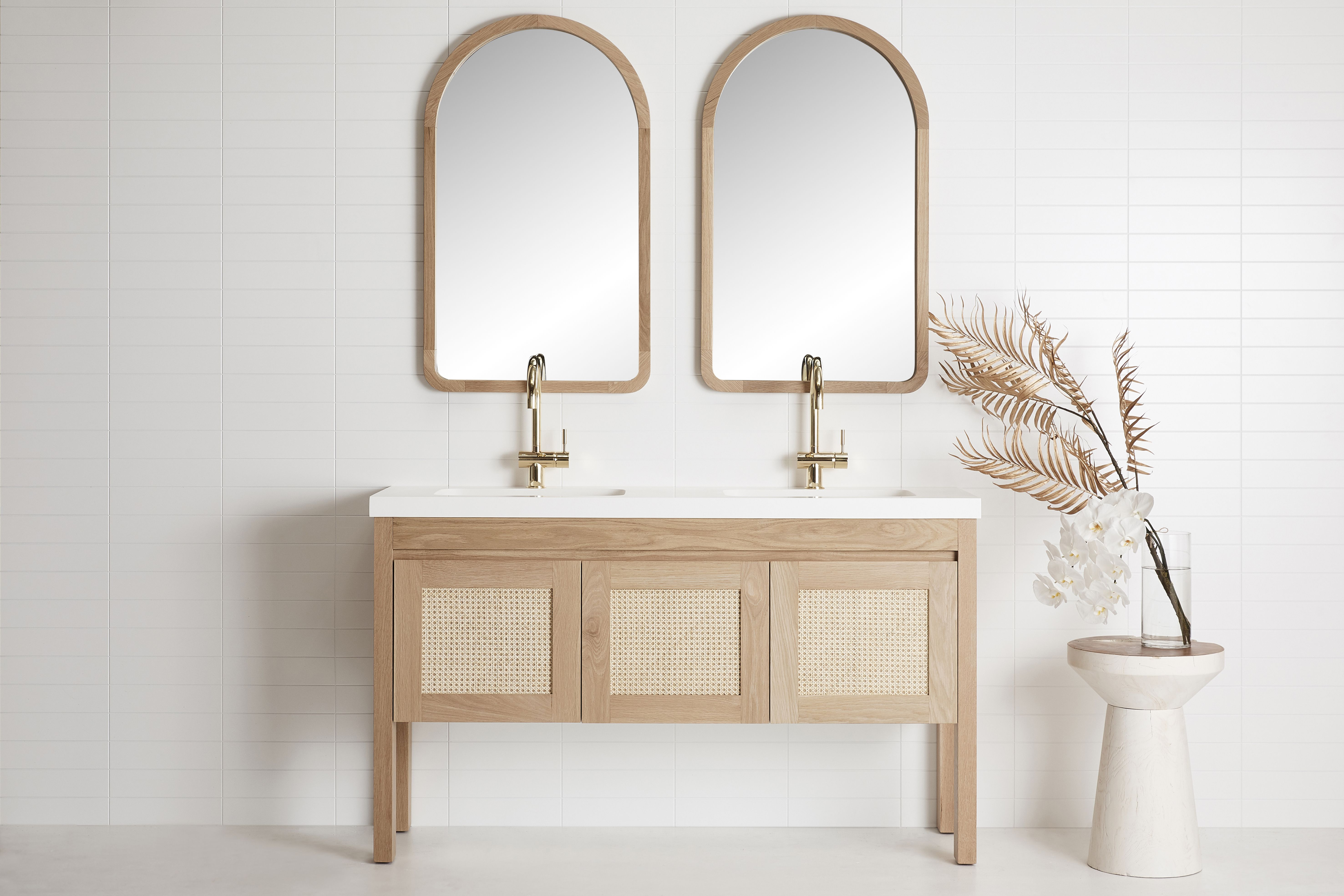 Freo Freestanding Vanity Timber Bathroom Vanities Coastal Inspired Bathrooms Timber Vanity