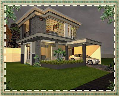 rumah minimalis modern minimalist house home fasade 10