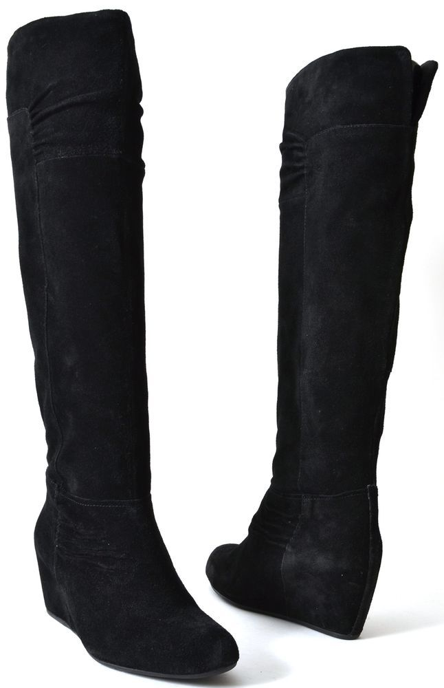 Nine West Women's Shoes Amelie Black Suede Fashion Knee High Boots 6, 8.5, 9.5 M #NineWest #FashionKneeHigh