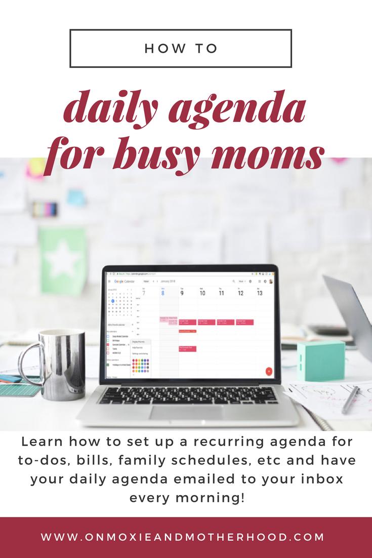 setting up an agenda