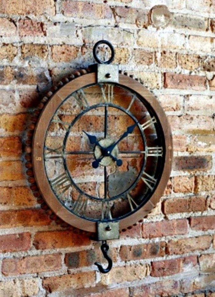 Handmade 3D Gear Wall Clock Retro Large Vintage Industrial Style for