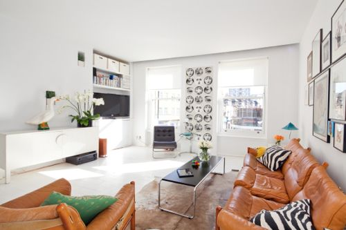 Montage: Cognac Colored Leather Sofas | StyleCarrot