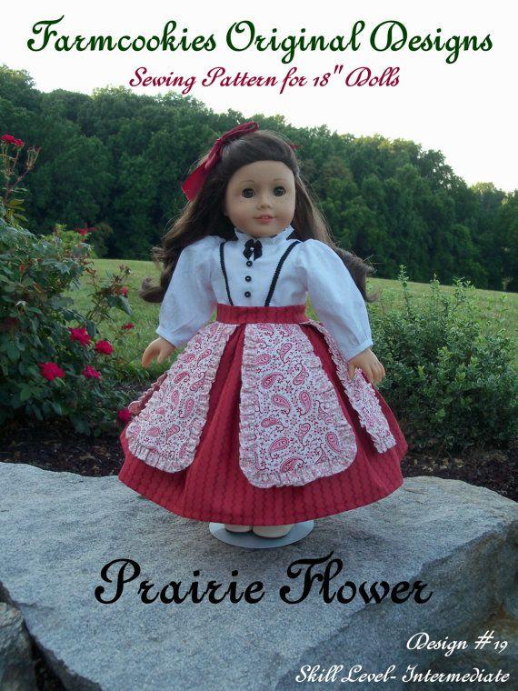 PRINTED Sewing Pattern/ PRAIRIE FLOWER / Sewing Pattern Fits ...