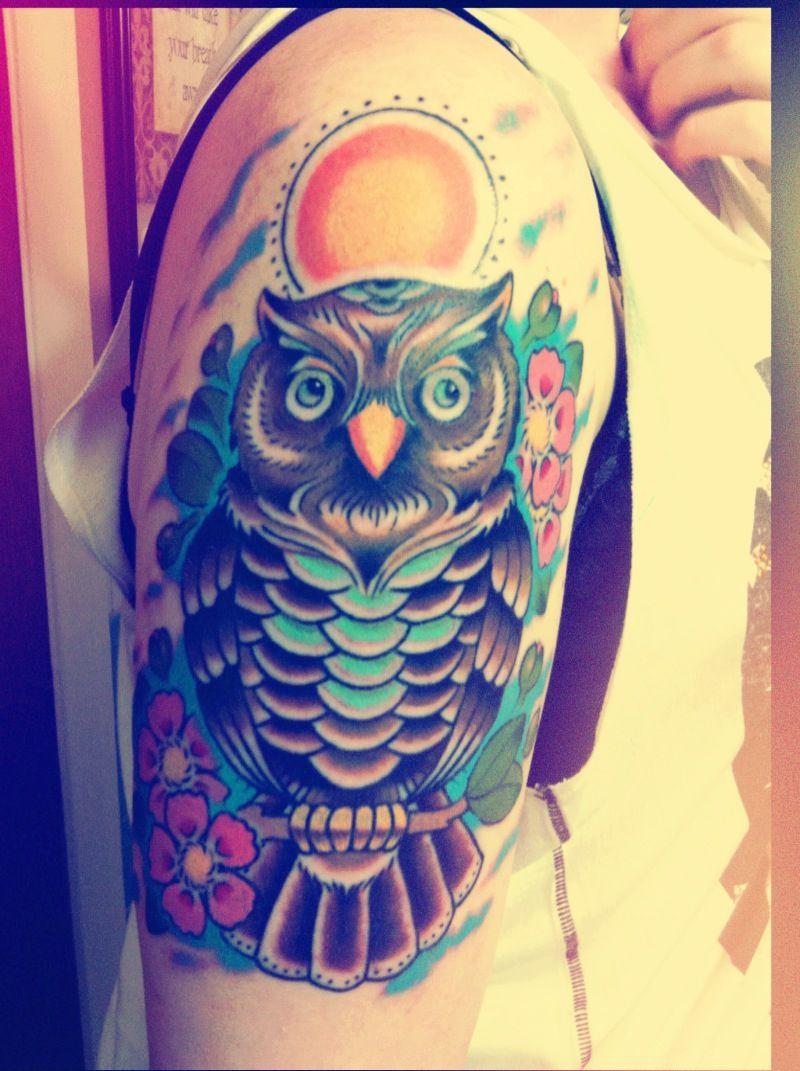 Owl Tattoo! :)   Owl tattoo, Night owl tattoo, Owl tattoo ...