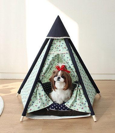 Dog indian tent teepee tent pet house dog house by goodhapy $70.00 & Dog indian tent teepee tent pet house dog house by goodhapy ...