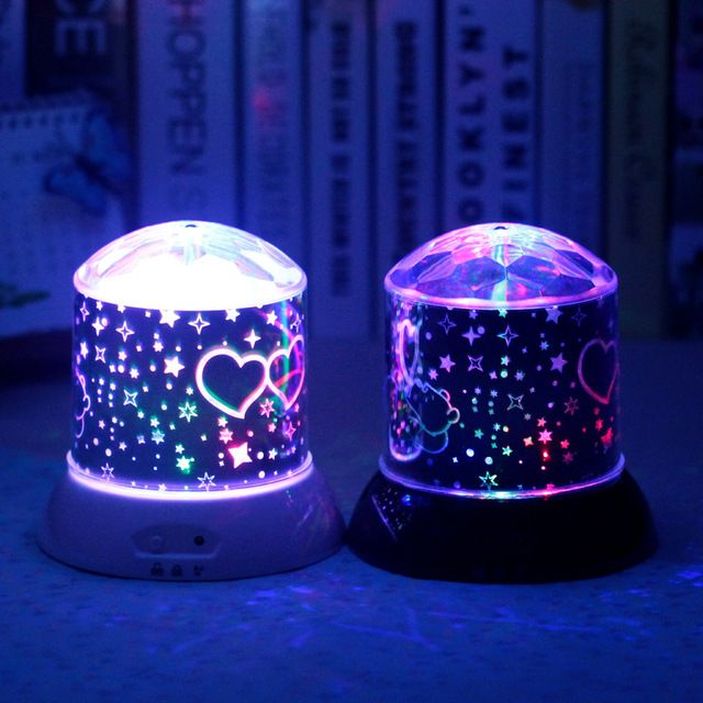Dazzle Colour Dream Sky Light Korean Winnie The Pooh Rotation And Colorful Projection Lamp Lovers Creative Birthday Gift Home