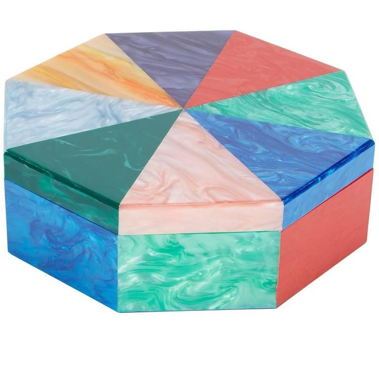 Edie Parker Home Multi-Color Octagon Box | 1stdibs.com