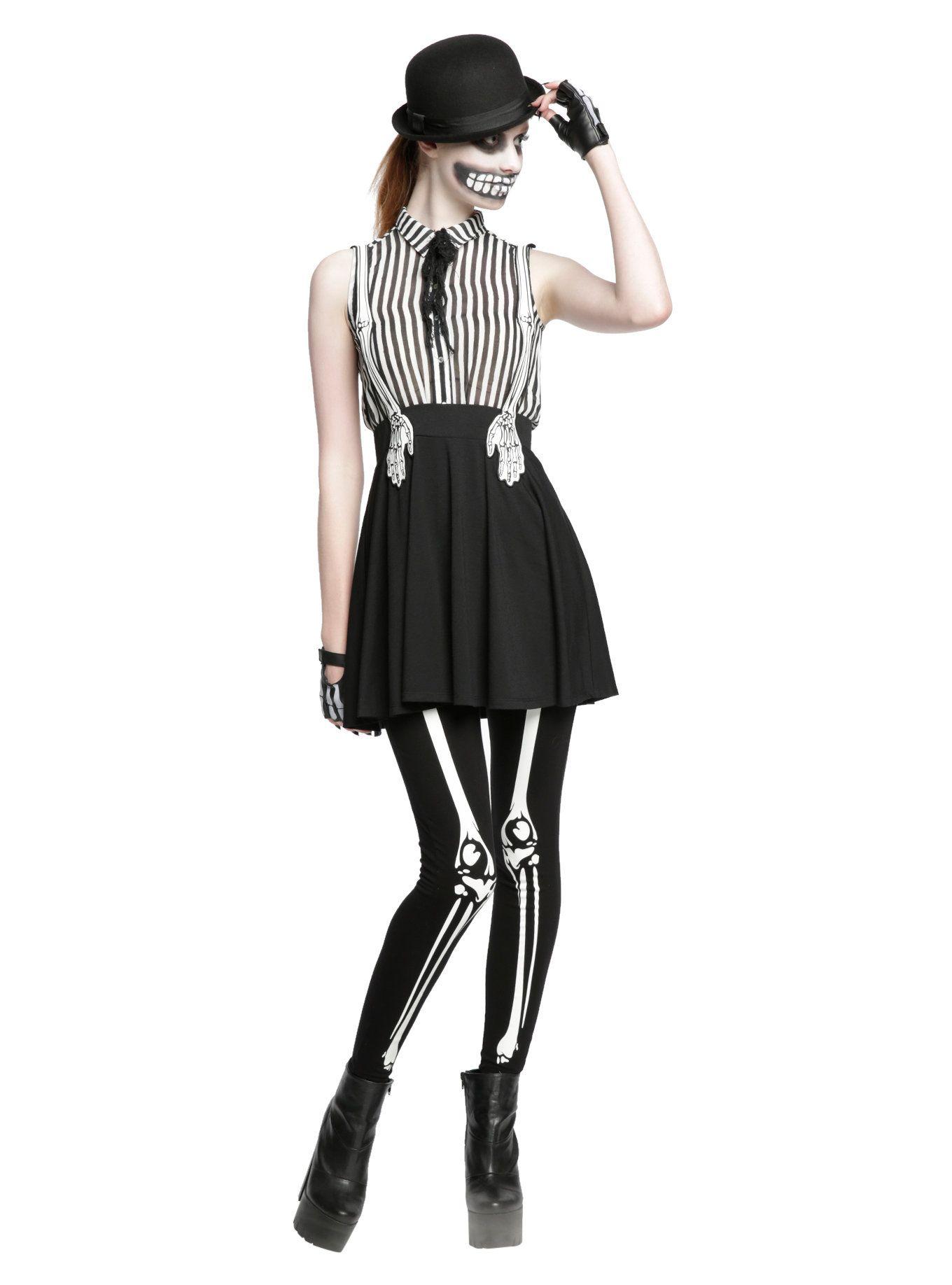 228f3a1bae5 Skeleton Hand Suspender Skirt