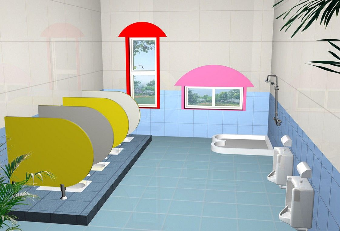 Kindergarten Public Toilet Interior Design
