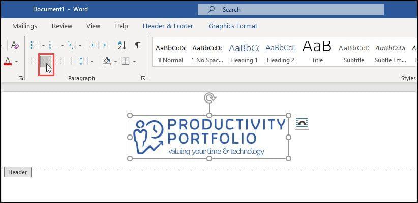 Create A Letterhead In Microsoft Word Letterhead Letterhead Template Portfolio