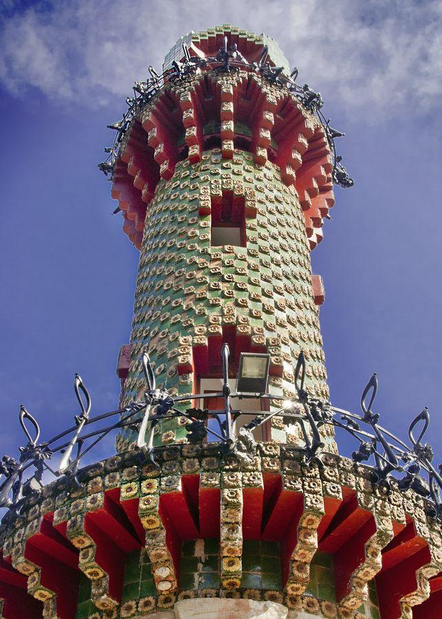 Tower in Gaudi's El Capricho, Comillas (Spain) | Gaudi ...
