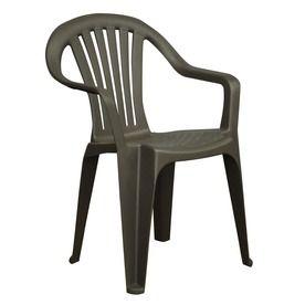 Adams Mfg Corp Earth Slat Seat Resin Stackable Patio