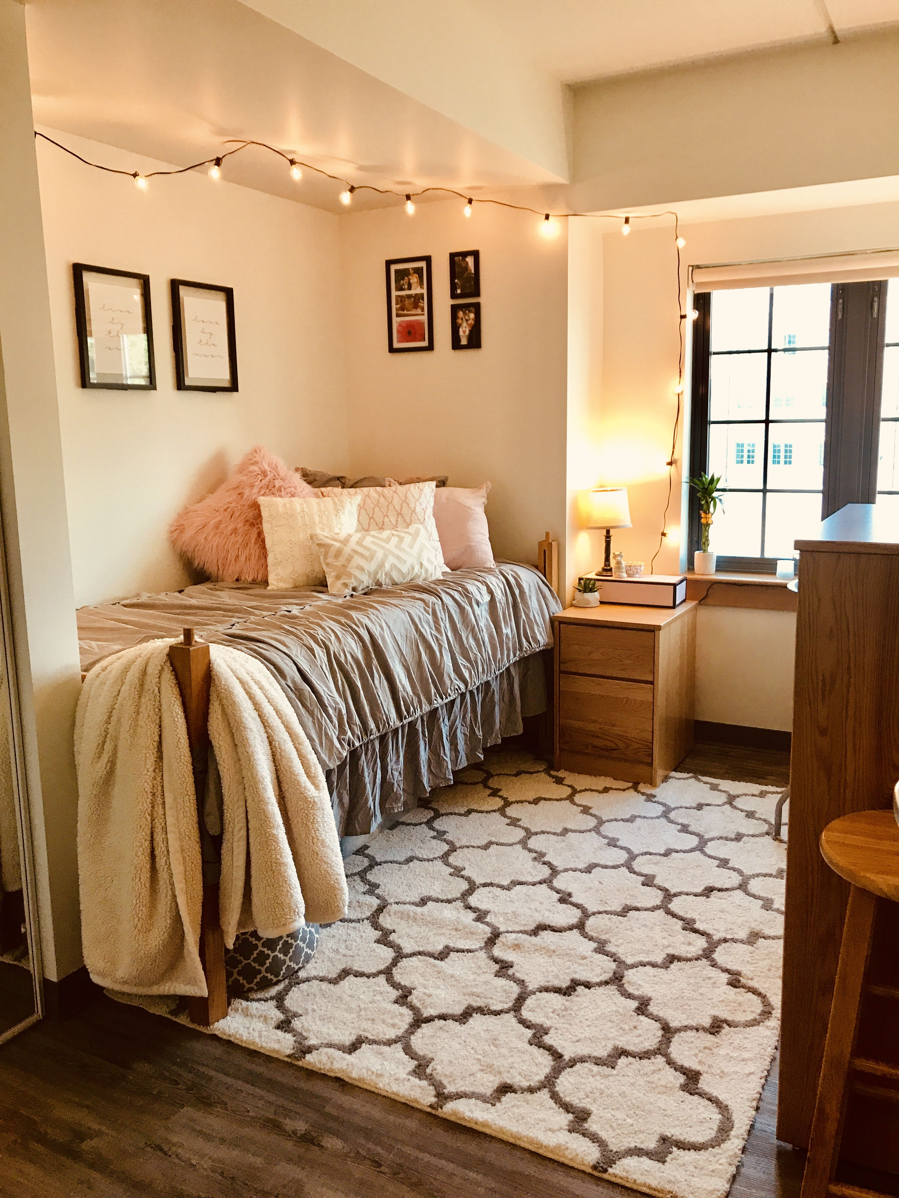 final product of my pinterest inspired dorm room! | Dorm ...