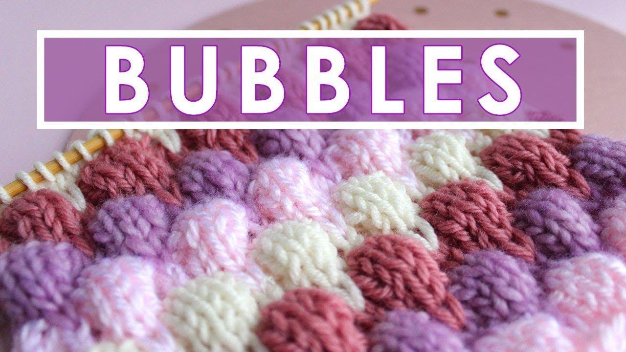 BUBBLE Knit Stitch Pattern | Tejidos en dos agujas | Pinterest ...