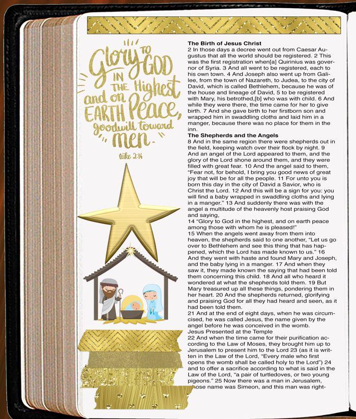 Bible Journaling Christ\'s Birth (Bible Journaling & Planner Stickers ...
