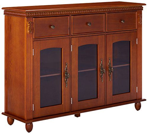 Beau Cheap Kings Brand Furniture Wood With Glass Doors Console Sideboard Buffet  Table With Storage Walnut ...
