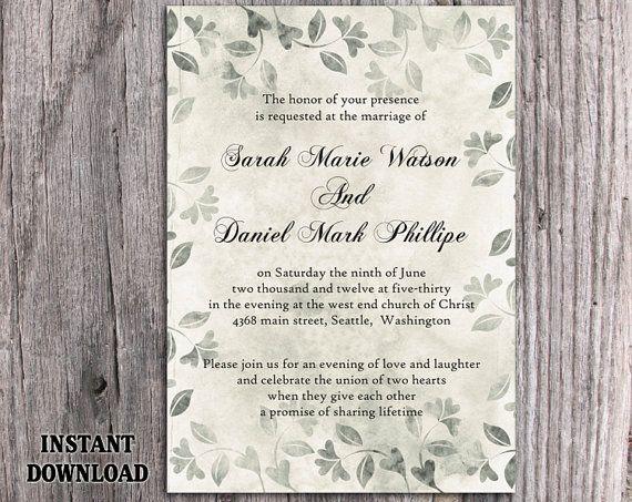 Rustic Wedding Invitation Template Download Printable Invitations ...