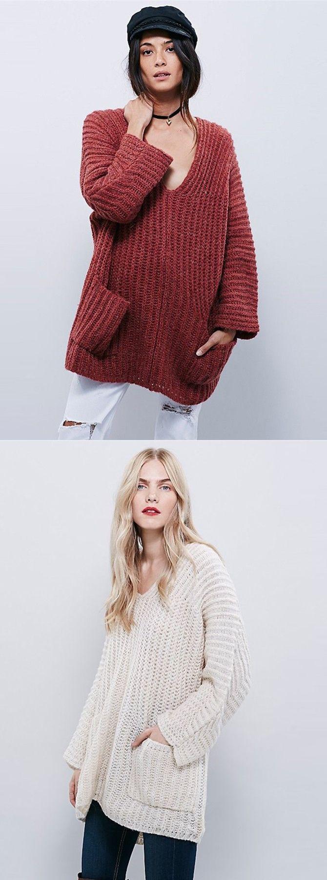 V-neck Cotton Medium Burgundy Raglan Sleeve Sweater | Cotton ...