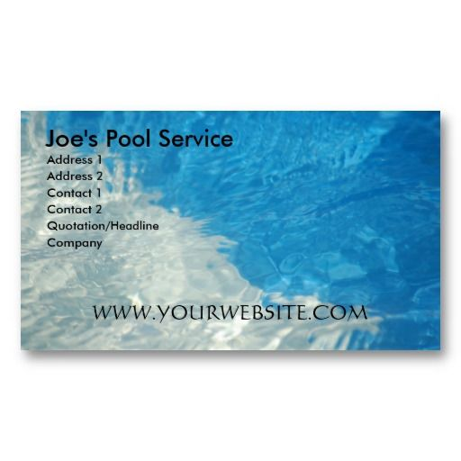 Pool service business card template pool service business cards pool service business card colourmoves Choice Image