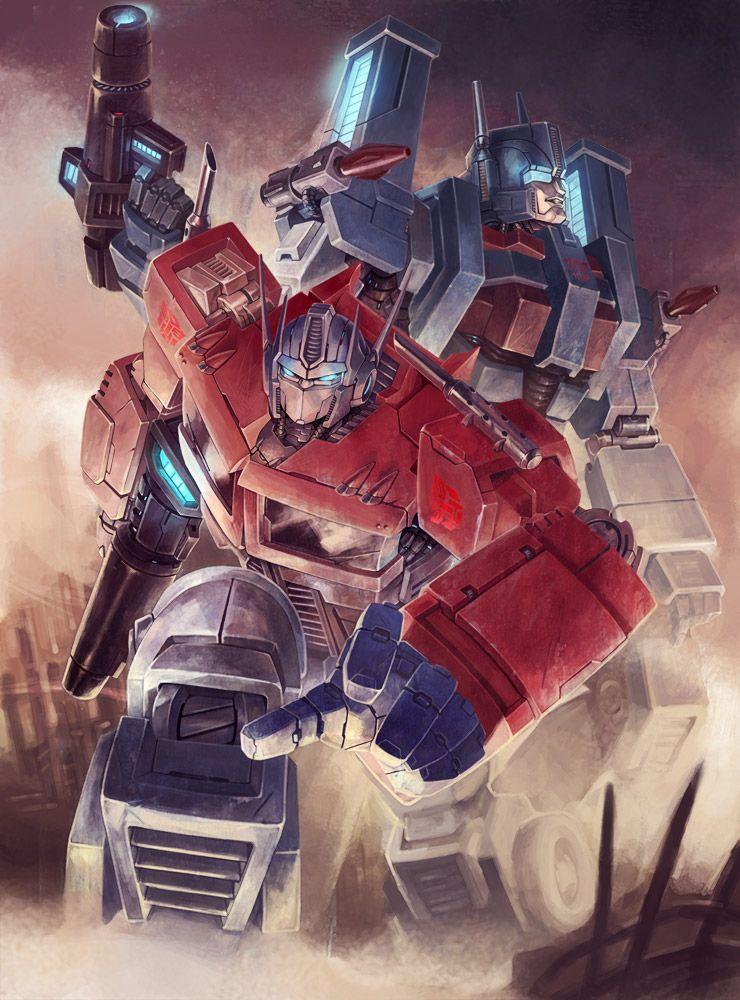 Optimus Prime and Ultra Magnus. Art by 相.