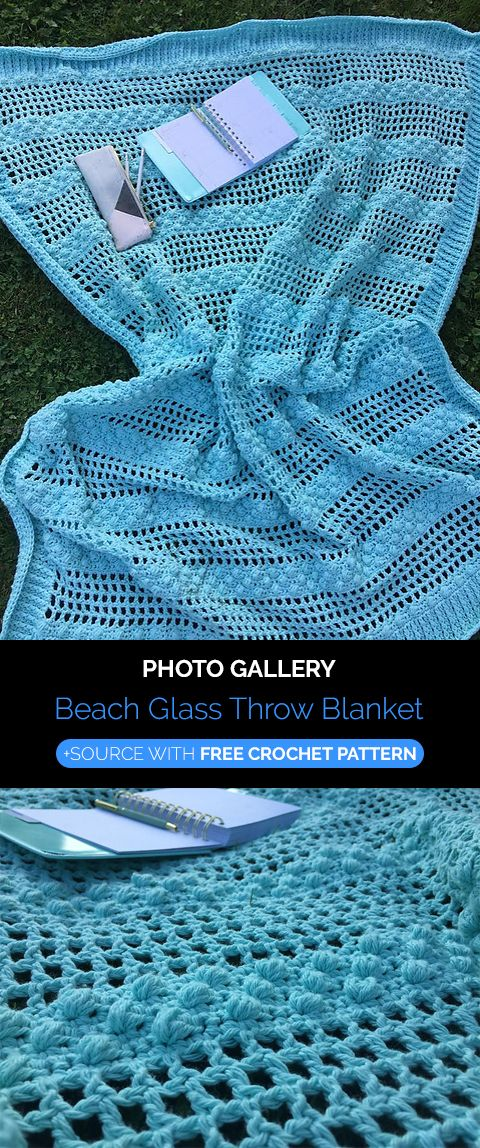 Beach Glass Throw Blanket Crochet | Afghans | Pinterest | Häkeln