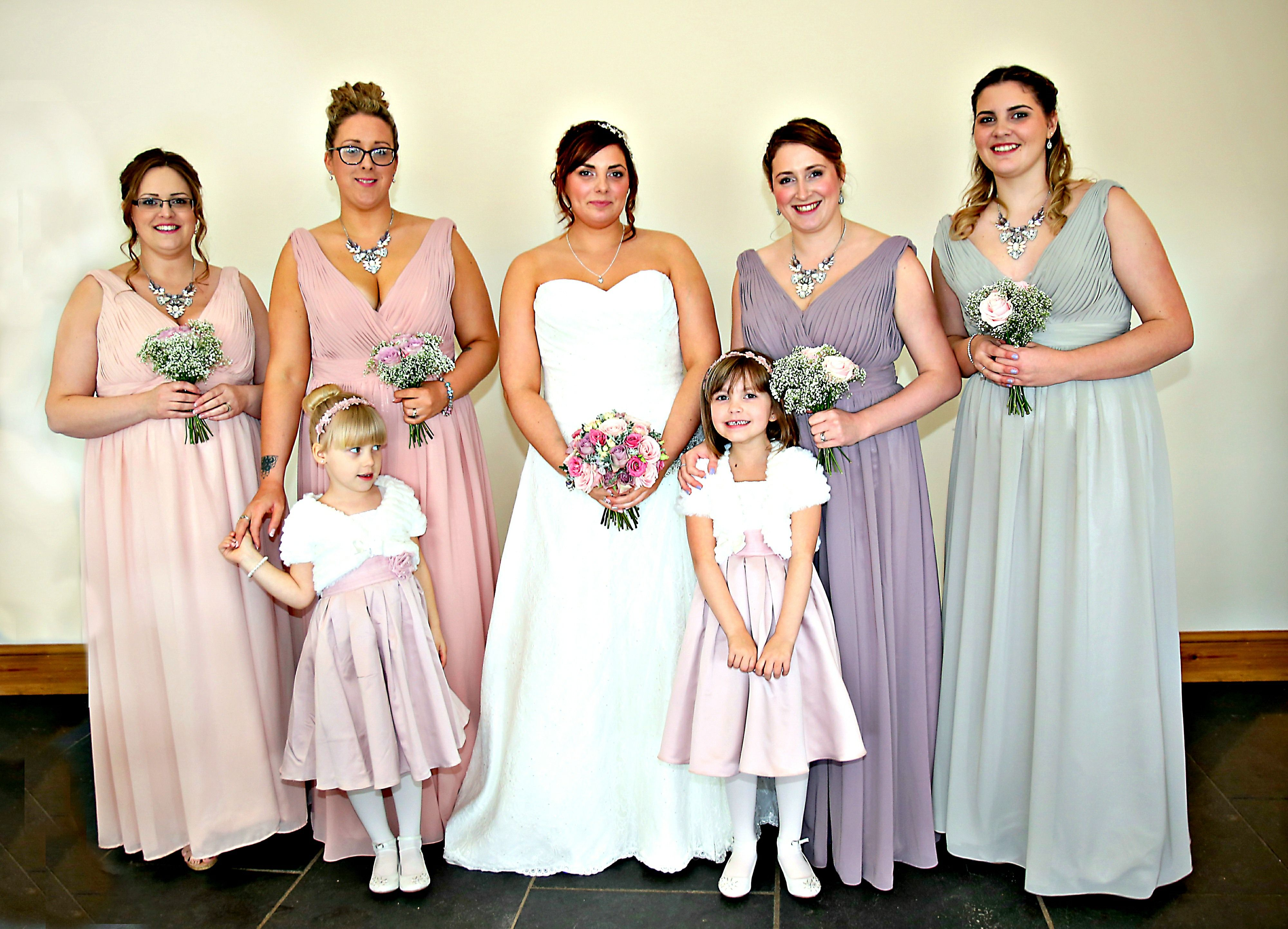 spring wedding. bridesmaid dresses. mix and match colours. pink ...