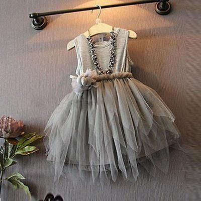 Kid girl infant baby #sleeveless #princess bridemaid bow tutu #dress party age 2-,  View more on the LINK: http://www.zeppy.io/product/gb/2/391409231501/