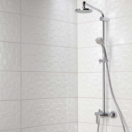 24++ Faience blanche vague salle de bain inspirations