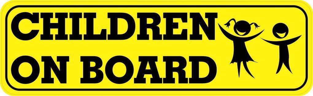 Stickertalk Children On Board Vinyl Sticker 10 Inches X 3 Inches In 2020 Vinyl Sticker Black Letter Vinyl