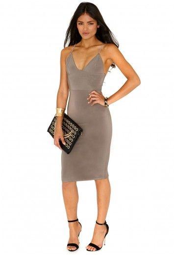 Mocha Knee Length Dress