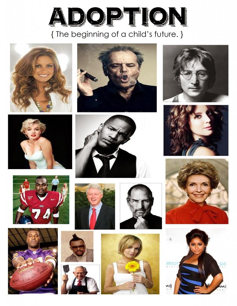 famous people who were adopted Gifted children parenting