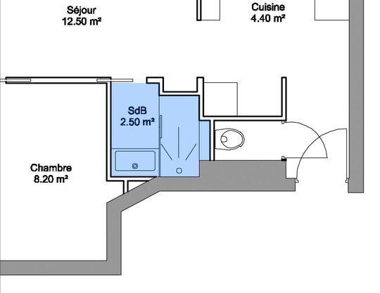 am nagement petite salle de bains 28 plans pour une petite salle de bains de 5m plans. Black Bedroom Furniture Sets. Home Design Ideas
