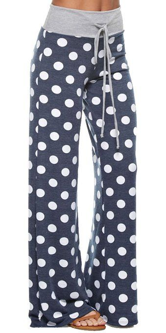 Marilyn Main Womens Comfy Soft Stretch Floral Polka Dot Pajama