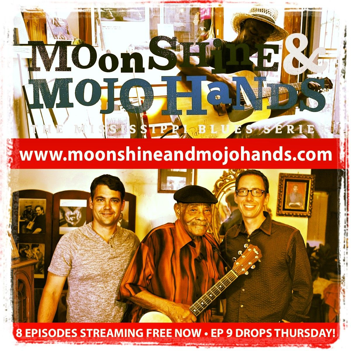 """""""Hopefully Somebody Will Keep It Going"""" is the apt title for Episode 9 of MOONSHINE & MOJO HANDS — your free weekly web series that explores blues culture in Mississippi. Late-great bluesman Eddie Cusic provided the title. As he also said of his (then) 87 years on earth, """"That's some miles on you, you know.""""  WATCH & SHARE @ www.moonshineandmojohands.com  Climb into our pre-owned Kia and ride the road to Greenville and Leland, Mississippi, this week."""